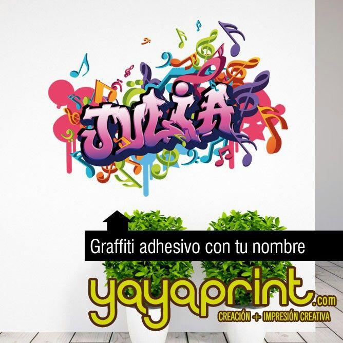 Graffiti de tu nombre personalizado en vinilo adhesivo a cualquier tamaño y colores. jorge Yayaprint.com #graffiti #decoracion #habitación #arteurbano #nombre #grafiti  #vinilosdecorativos  #yayaprint  #niño #vinilo #vinilos #interiorismo #impresión #pegatinas #decoración #deco #Madrid #Barcelona #España  #vinilosMadrid #vinilosdecorativos #vinilodecorativo #vinilosniñas #vinilosniños #adhesivos #graffitis #regalosoriginales