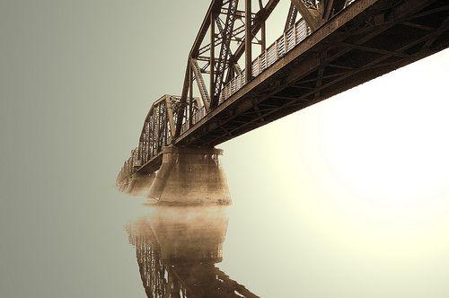 Train bridge in Fredericton, NB