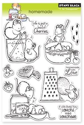 Penny Black Homemade - Clear Stamp. Penny Black clear stamps featuring kitchen scenes and the sentiments If life gives you lemons make lemonade, Homemade with l