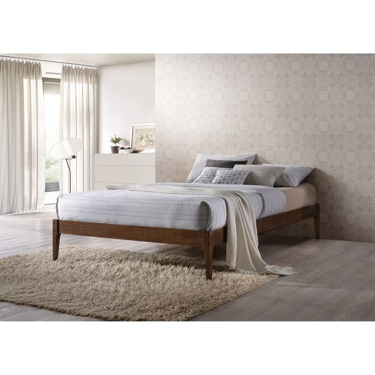 Baxton Studio Damon Mid-century Modern Cappuccino Bed | Overstock.com Shopping - The Best Deals on Beds