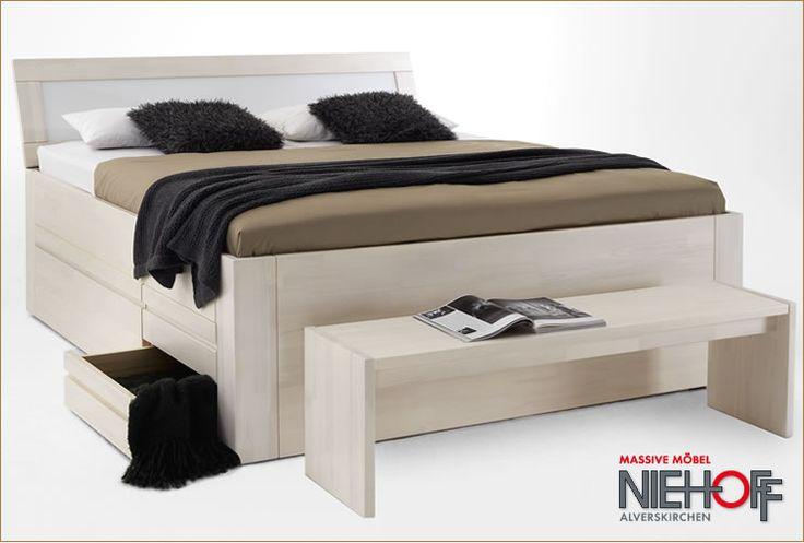 Bettgestell 180x200 mit schubladen  Jabo Holz Bett Straight, Kiefer massiv   Wohnung   Pinterest