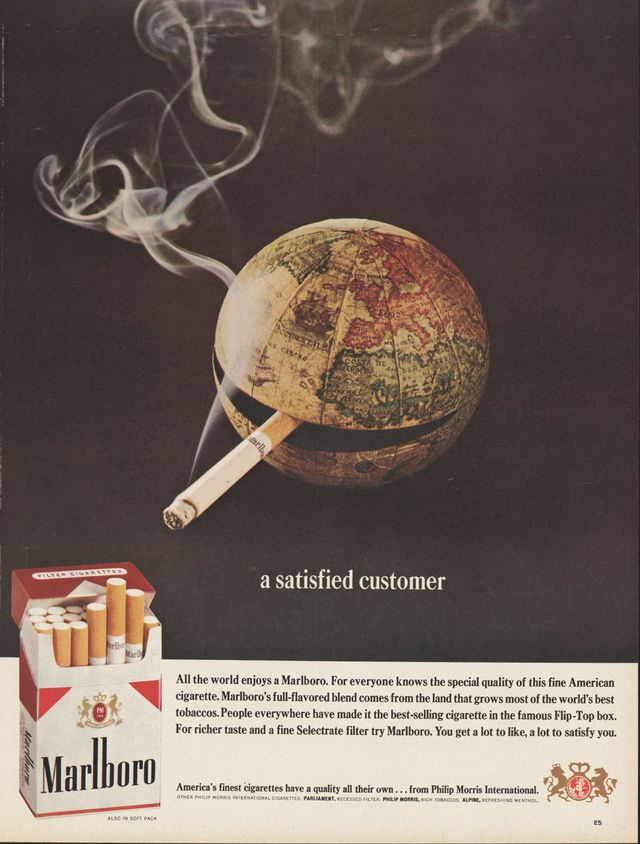 an analysis of the famous philip morris marlboro cigarette ad Philip morris international, which sells marlboro and other cigarettes outside the united states, says there is nothing improper about its executives engaging with government officials.
