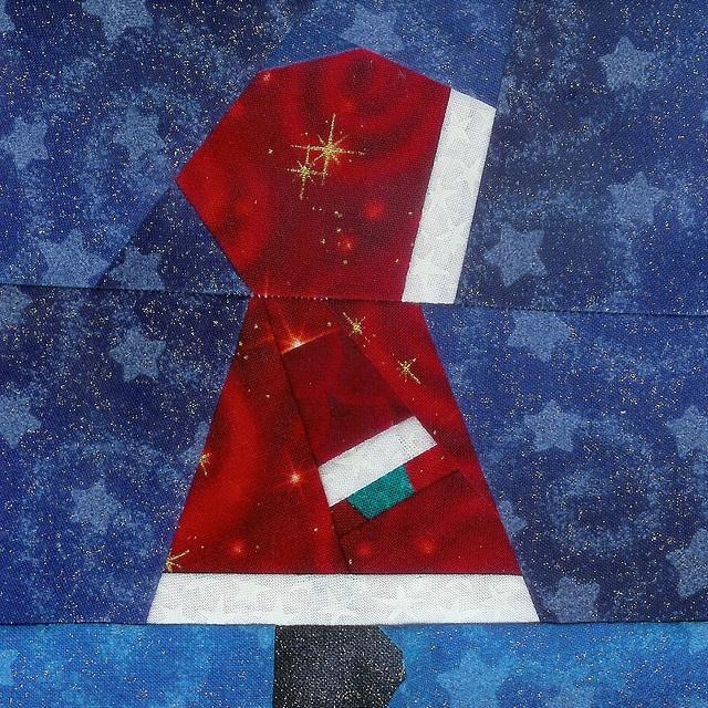 Best 12 Santa Claus Quilt Block Images On Pinterest