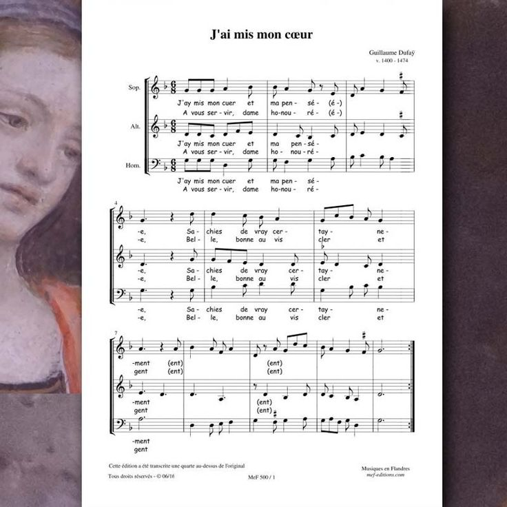 Guillaume DUFAY : J'ai mis mon cœur - Editions Musiques en Flandres - référence : MeF 500