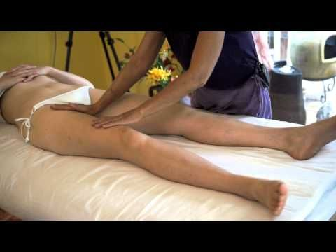 ▶ Leg & Thigh Lymphatic Massage For Swollen Feet & Ankles, Advanced Massage Therapy Techniques - YouTube