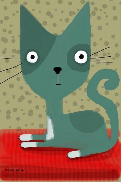 Adam Record: kitty  #cat #illustration