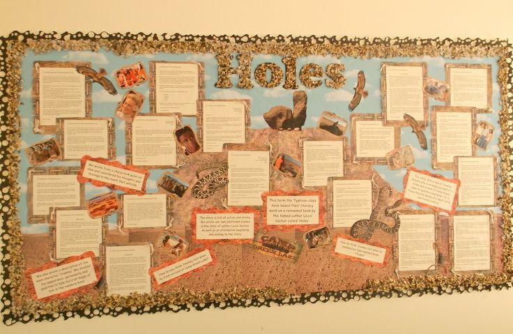 Holes by Louis Sachar - classroom display