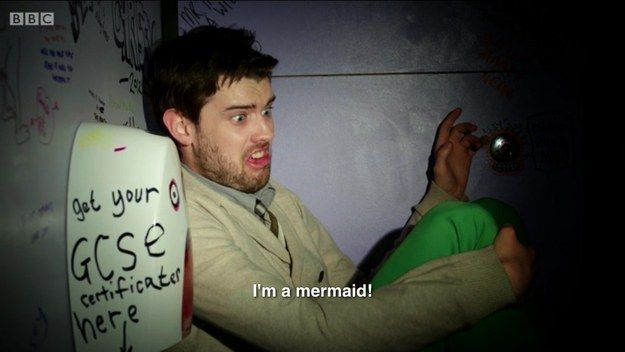 When he gave the performance of his life as a drugged teacher who thinks he's The Little Mermaid. | 19 Times Jack Whitehall Totally Out-Bantered Everyone