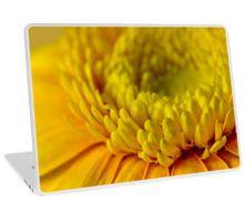 Laptop Skin. #gerbera #yellowgerbera #yellowgerberaflower #gerberamacro #macro #sandrafoster #sandrafosterredbubble  #redbubble