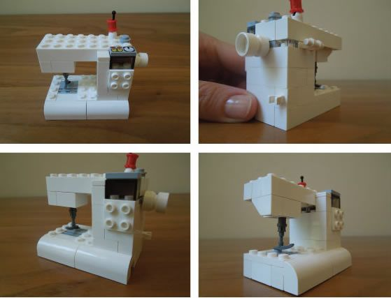 How-To: Lego Sewing Machine: Sewing Machines, Holidays Crafts, Crafty Things, How To Lego Sewing Machine Jpg, Lego Tutorials, Carrie Bloomston, How To Quilts Sewing Machine, Machine Tutorials, Awesome Lego Friends