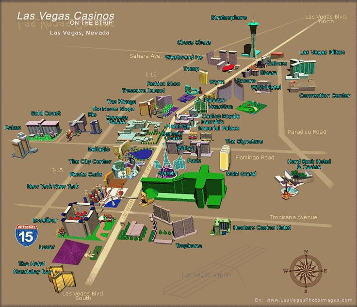 map of las vegas Las Vegas Casinos Map