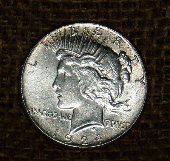 1924-S Peace Dollar CH BU Ms63