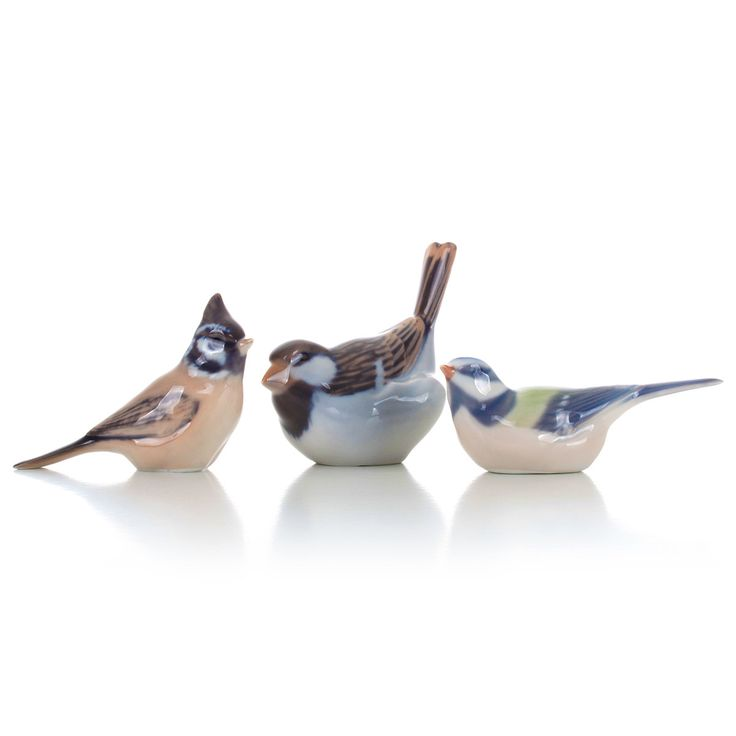 Royal Copenhagen figurines - set of three birds - all are Grade A. Danish porcelain. Set of three porcelain birds in pristine condition! by DanishVintageDesigns on Etsy
