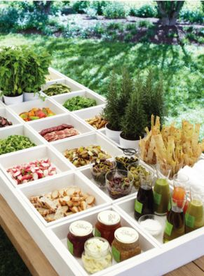 Party Ideas Pinterest Food Salad Bar And