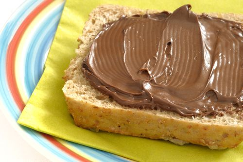 Spread some love with this healthy version of Nutella Spread.  It's made from hazel nuts, chocolate chips, and coconut milk.  Try it with fruits or maybe on whole wheat toast!