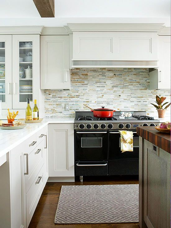 If you are remodeling your kitchen or planning your kitchen in your new home, look here for plenty of backsplash ideas. We have lots of materials including beadboard, tile, subway tile, glass and wood to make your kitchen just the style you want. Mix and match tiles with cabinet colors and materials for a unique kitchen that you'll love to cook in!