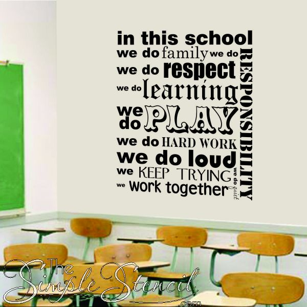 in this school we do | classroom and school wall quotes & lettering