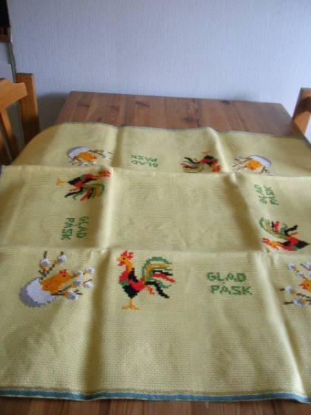 北欧スウェーデン PÅSK刺繍テーブルクロス(正方形) Scandinavian ¥1200円 〆03月24日