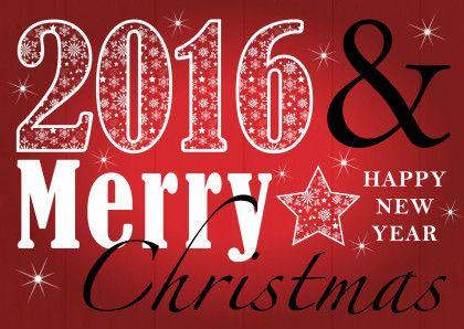 Unieke kerstkaart met rode achtergrond en tekst.  Design: Patricia van Hulsentop  Te vinden op: www.kaartje2go.nl