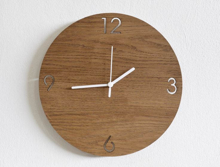 Wooden Simply Circle - Wooden Wall Clock by SolPixieDust on Etsy https://www.etsy.com/listing/194102475/wooden-simply-circle-wooden-wall-clock