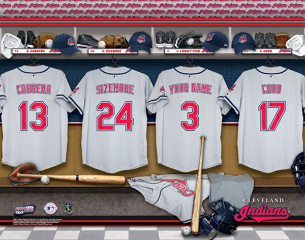 Man Cave Locker Room : Cleveland indians mlb baseball personalized locker room
