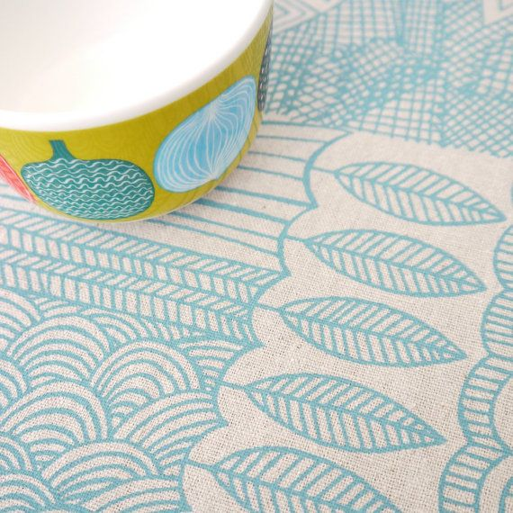"""""""Tangle""""  screenprinted fabric by Lucie Summers, AKA Summersville  on Etsy, £5.50"""