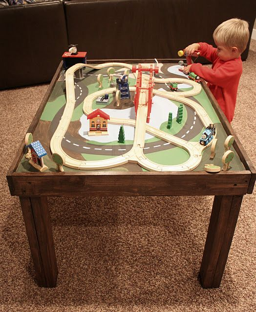 table for kids be cute to make a little town for the girls or