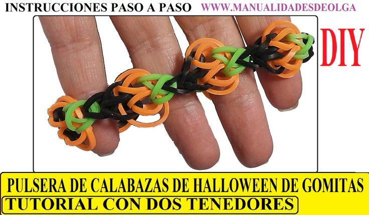 Como hacer una pulsera de calabazas de halloween de - Hacer calabaza halloween ...