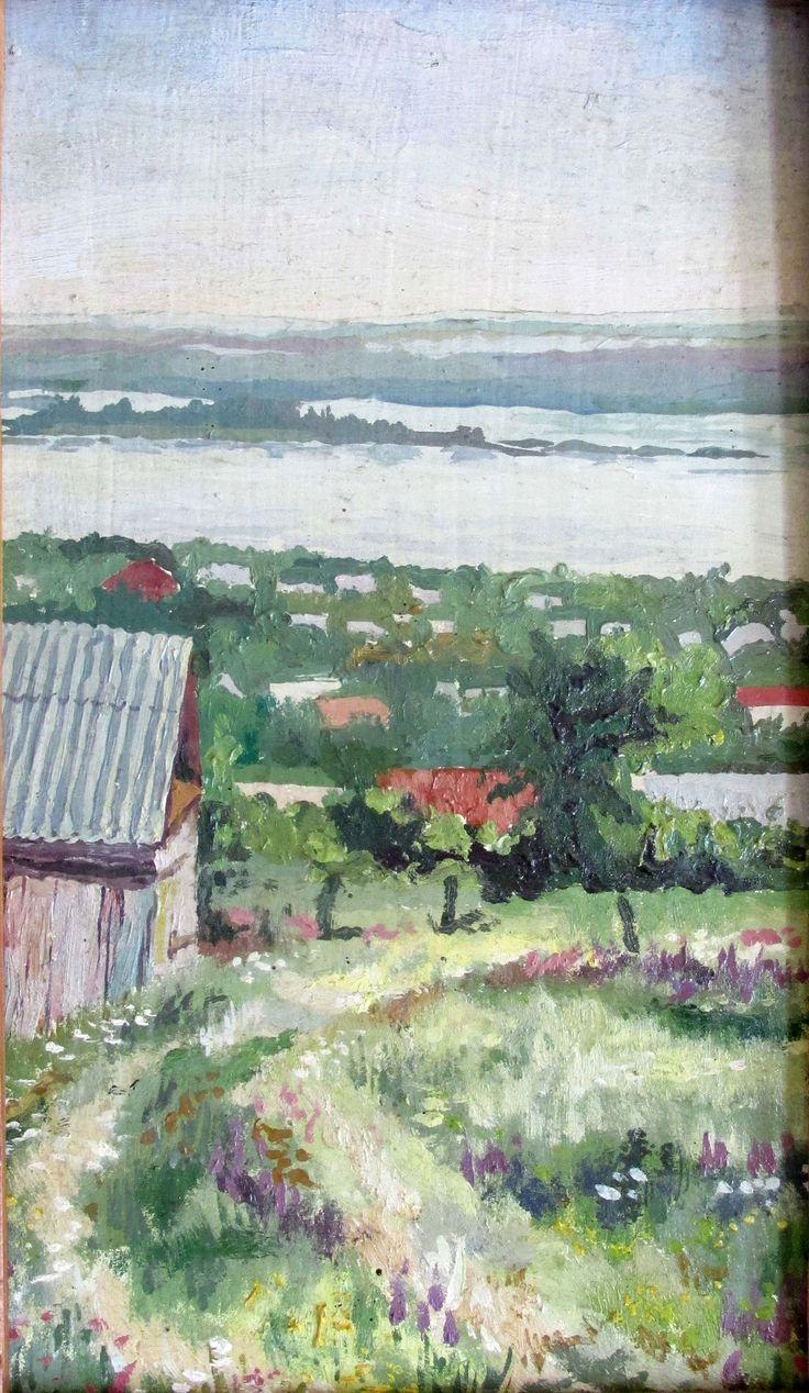 Анжелика Смирнова. Октябрьск. Вид с горы, к., м.