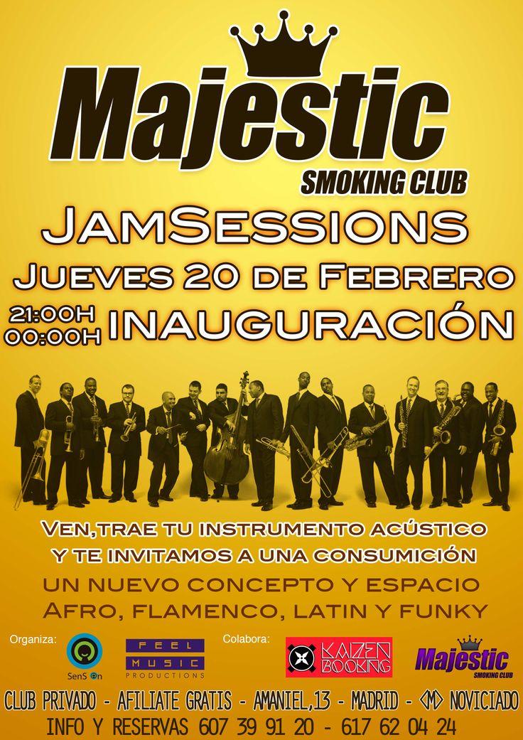 #JamSession en Majestic Smoking Club #Madrid #musica en directo