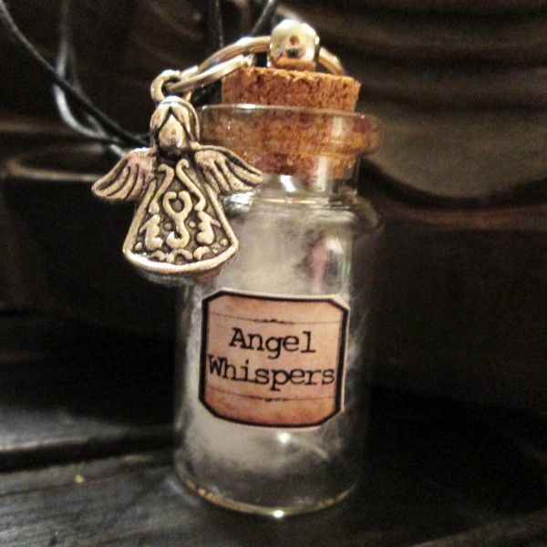 Angel Whispers Apothecary Bottle Necklace
