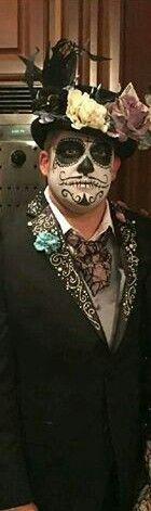 Tony Stewart, dressed for Halloween, 2016