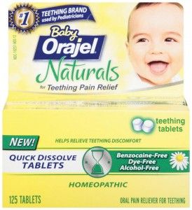 Baby Shower Giveaway: Baby Orajel Naturals Teething Tablets