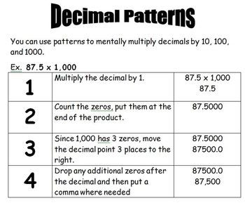Copy Of Multiplying Decimals By 10, 100, 1000 - Lessons - Tes Teach