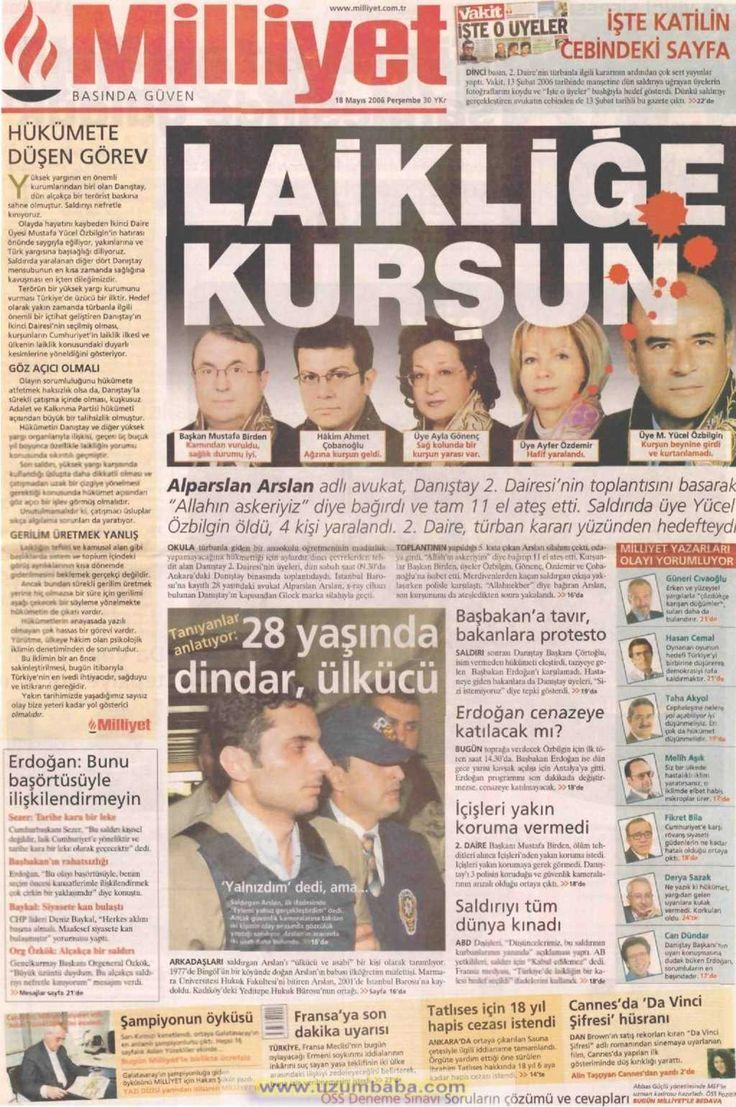 Milliyet gazetesi 18 mayıs 2006