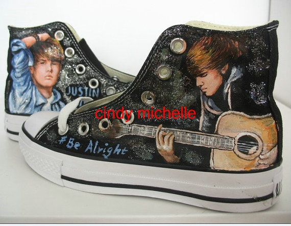 Justin Bieber shoes witch i have been dyeing  for