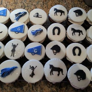 Horseback and Cheerleading Cupcakes - Pink Sugar Cupcakes