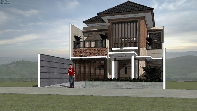 Rumah Tropis Modern Tipe RIYADH by aguscwid - 3D Warehouse