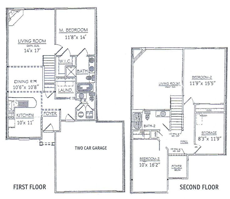 bedrooms floor plans 2 story bdrm basement the two three bedroom