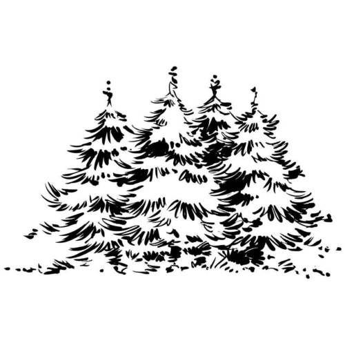 die besten 25 tannenbaum malen ideen auf pinterest. Black Bedroom Furniture Sets. Home Design Ideas