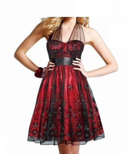 Red And Black Formal Dresses   ... cheap red and black elegant formal prom homecoming dresses under 100