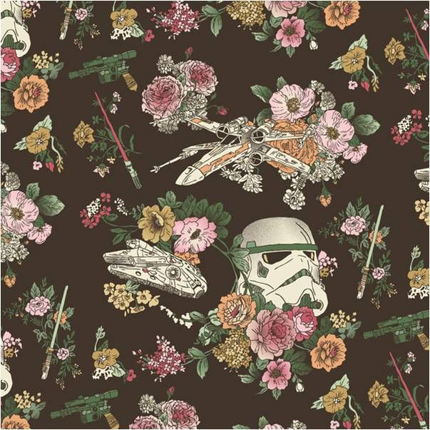Brown Star Wars Botanical Bedding Design