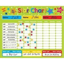Magnetic Reward / Star / Responsibility / Behavior Chart for up to 3 Children.