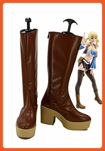 Fairy Tail Lucy Cosplay Shoes Boots Custom Made Brown - Sneakers for women (*Amazon Partner-Link)