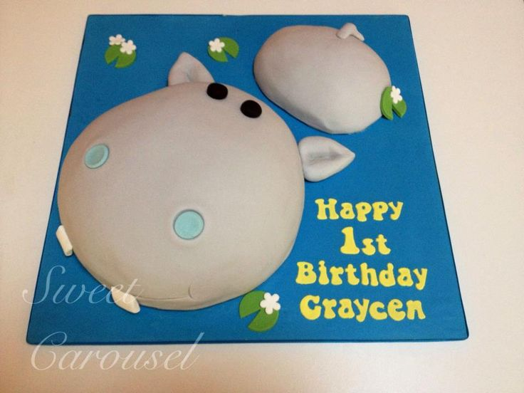 Hippo Cake by Sweet Carousel