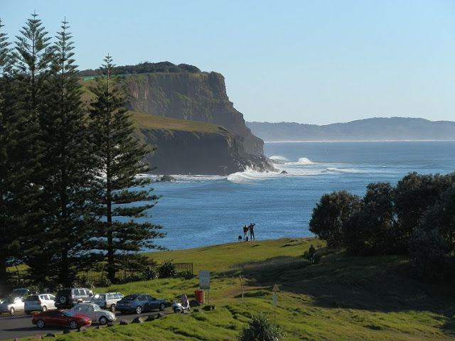 The AWESOME view looking north from Skennars Head to Lennox Head and #CapeByron, #NewSouthWales!