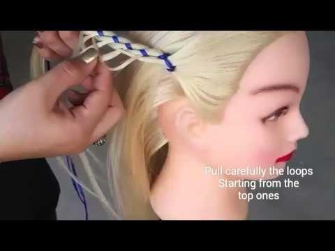 4 Strand Loop Ribbon Braid Tied Back| Braidsbyredv