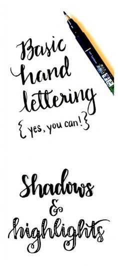 Basic Hand Lettering: Shadows and Highlights - One Artsy Mama