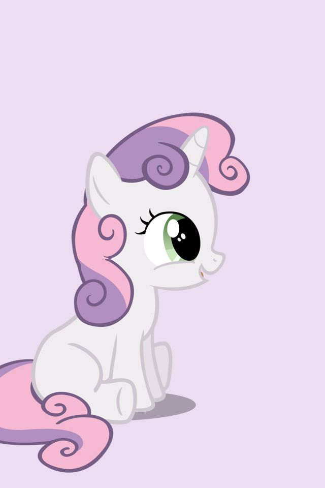 My Little Pony - iPhone Wallpapers - Sweetie Belle by doctorpants