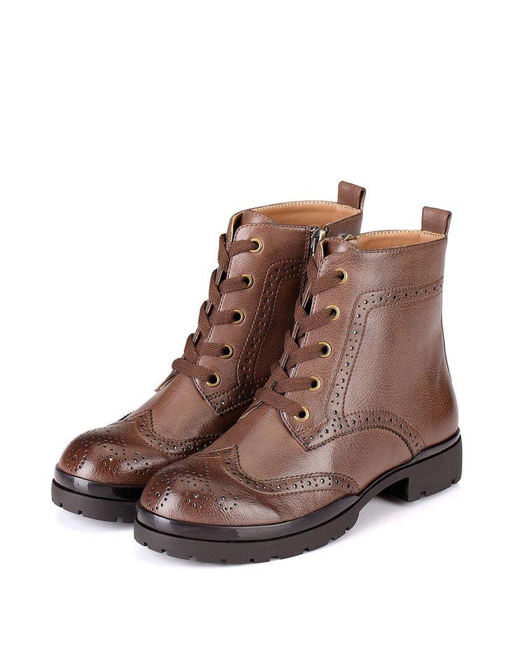 Bari Brogue Boot – Genkek Shoes